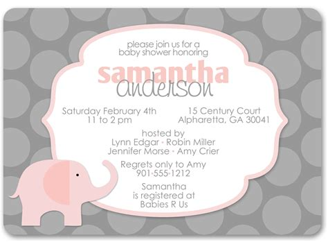 free printable elephant baby shower invitations printable elephant baby shower invitations theruntime