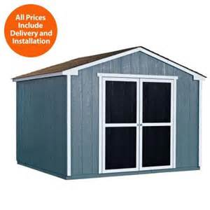 Home Depot Sheds Handy Home Products Installed Princeton 10 Ft X 10 Ft