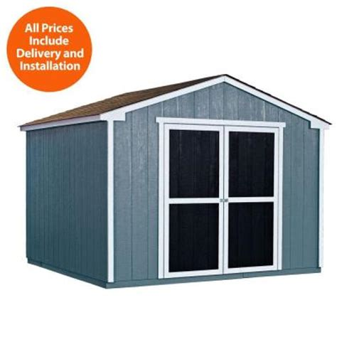 Home Depot Installed Sheds by Handy Home Products Installed Princeton 10 Ft X 10 Ft