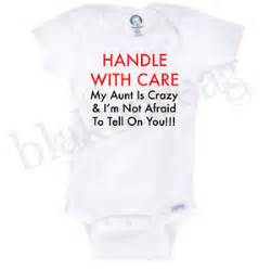 With care crazy aunt gerber onesie baby t shirt baby shower cute funny