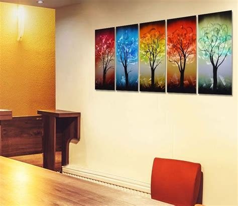 colorful tree metal wall art decor  gadgets