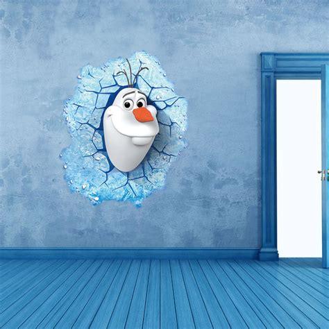 Winter Wall Murals aliexpress com buy 3d diy cartoon elsa snow queen olaf