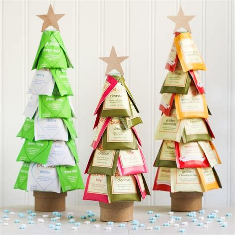 what to use instead of a christmas tree tea trees using rubber cement instead of glue will be easier for gift recipient