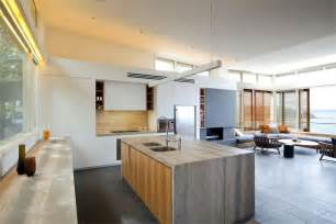 Modern Open Plan Kitchen Designs by Exquisite Modern Beach House In Australia Idesignarch