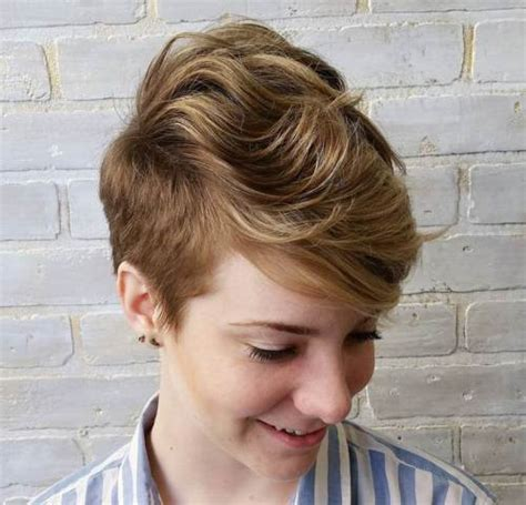 pixie cut with short sides and long top 22 pretty short haircuts for women easy everyday short