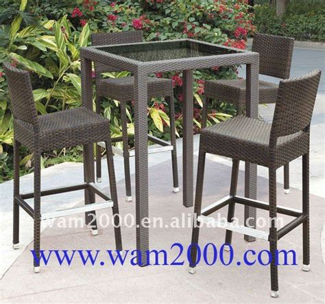 Outdoor High Bar Table And Chairs by Outdoor Rattan Bar High Table And Chairs For Garden