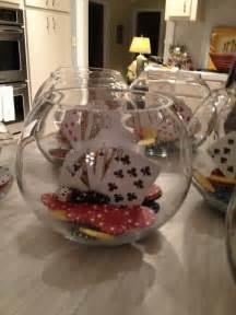 casino centerpieces casino centerpieces made with fish bowls