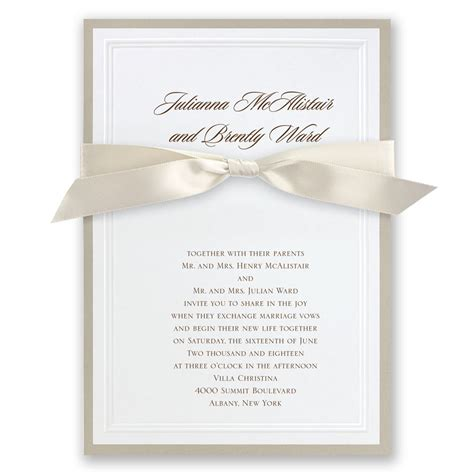 Wedding Announcement Write Up by Sophisticated Border Invitation Invitations By