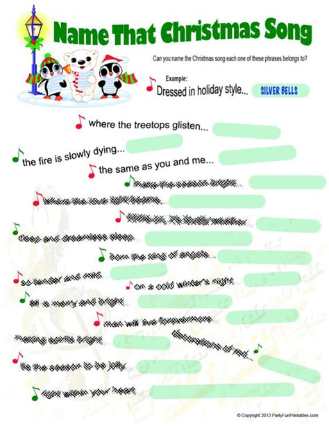 printable christmas music games name that christmas song game