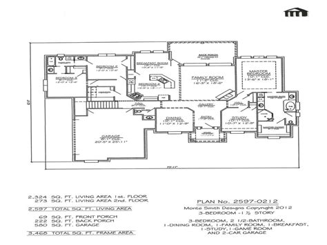 2 story apartment floor plans 3 bedroom 2 bathroom 1 story house plans 3 bedroom