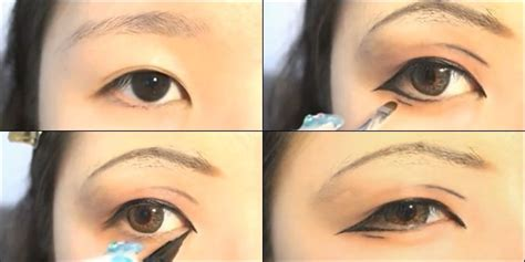 tutorial eyeliner agar terlihat sipit tutorial make up natural untuk mata besar tutorial make up