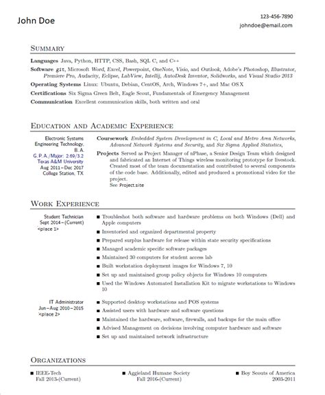 college engineer soon to be graduate i ve received a lot of conflicting feedback on my resume