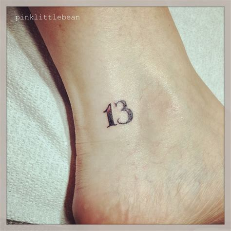 number 13 tattoo number 13 tattoos