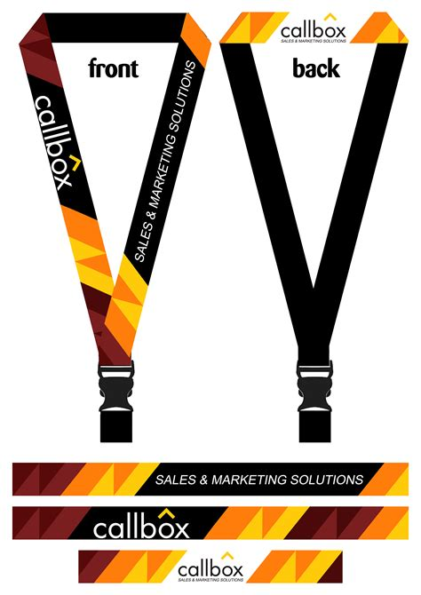 lanyard template company lanyard on behance