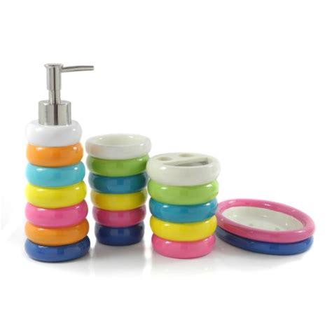 Rainbow Bathroom Accessories Rainbow Bathroom Accessories Wenko Rainbow Bathroom Accessories Set White At Plumbing Uk