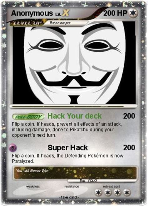 card anonymous pok 233 mon anonymous 67 67 hack your deck my card