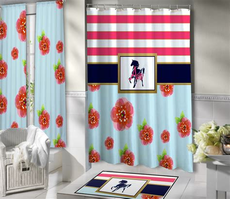 equestrian shower curtain equestrian shower curtain fabric horse personalized