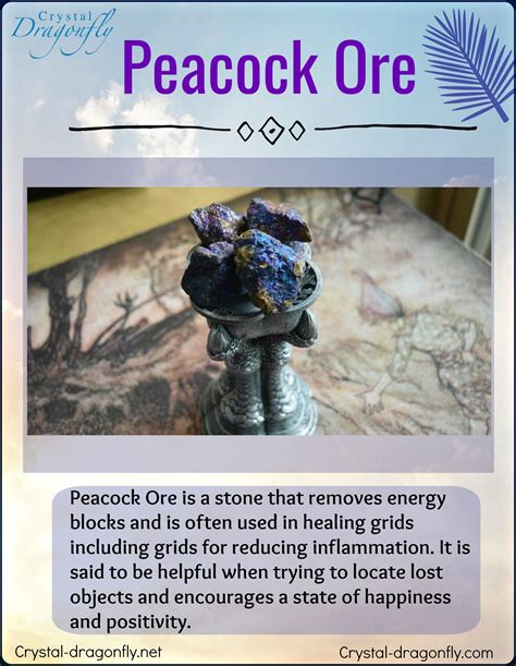 healing energy  peacock ore crystals meditation