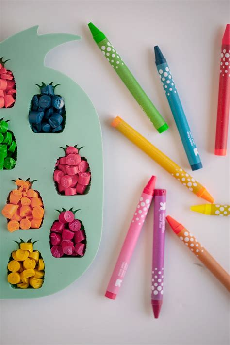 diy crayon molds tell and chocolate tell diy pineapple crayons