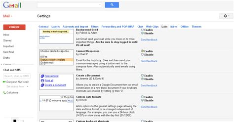 gmail settings gmail settings driverlayer search engine