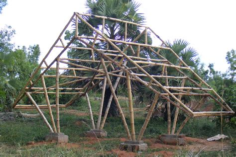 construction   Auroville Bamboo Centre