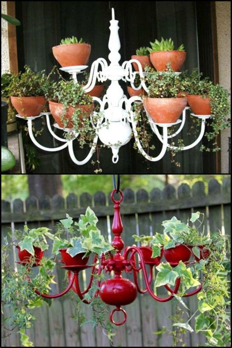 Outdoor Chandelier Diy 25 Best Ideas About Chandelier Planter On Tire Garden Diy Garden Projects And Diy