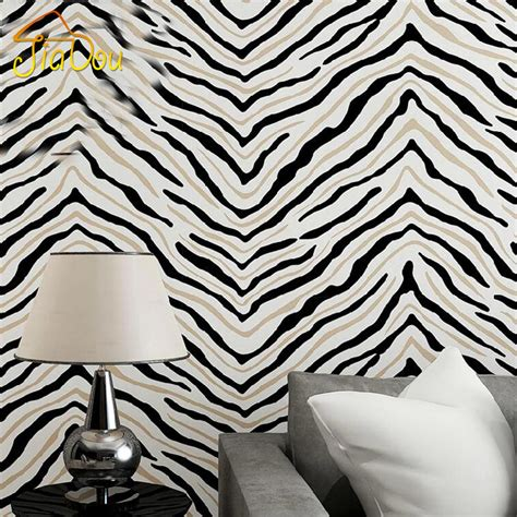 zebra wallpaper for bedrooms online buy wholesale zebra pattern wallpaper from china
