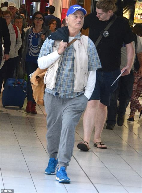 bill murray fan bill murray shoves a fan at sydney airport daily