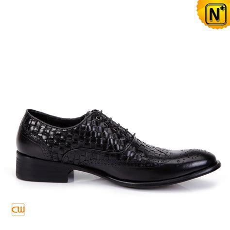 mens handmade leather brogue shoes black cw761130