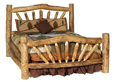 how to make a log bed goodshomedesign