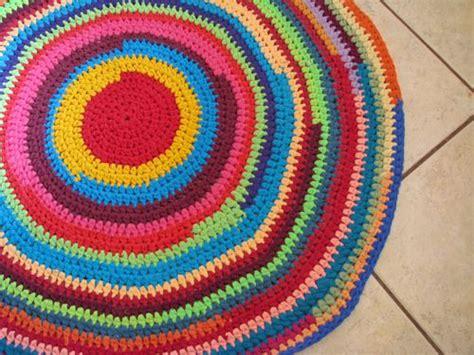 Crochet Tshirt Yarn Rug by T Shirt Yarn Rug But Finish Each Line With A