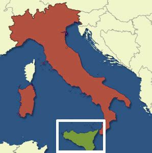 sections of italy what island is the boot section of italy kicking