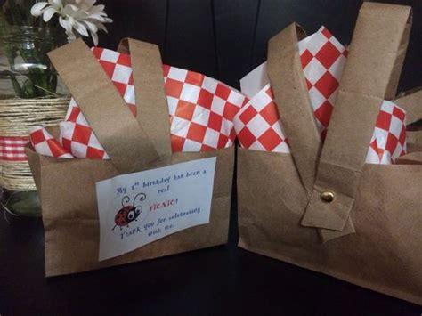 newspaper theme preschool picnic themed 1st birthday picnic basket goodie bags