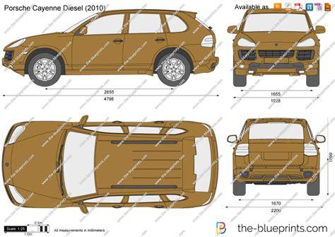 porsche cayenne diesel vector drawing