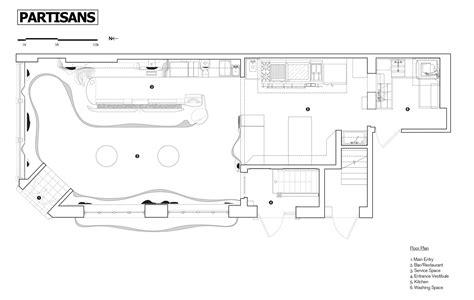 bar floor plan design bar raval partisans archdaily