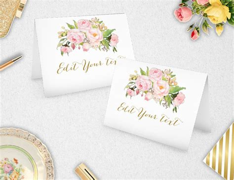 printable bridal shower place cards place cards food labels instant download editable