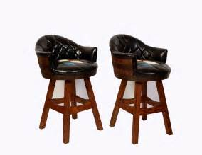 How To Clean Vintage Upholstery Whiskey Barrel Bar Stools Pair Mid Century Man Cave