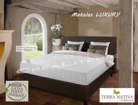 matelas luxury matelas biotex 160x200 luxury 26 cm 100 naturel
