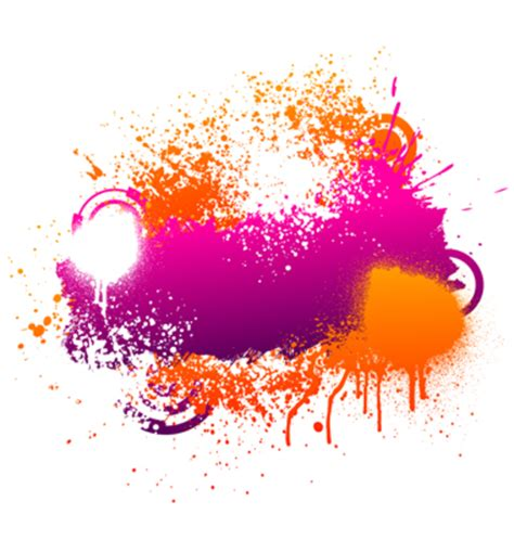 purple and orange paint splatter vector free images at clker vector clip