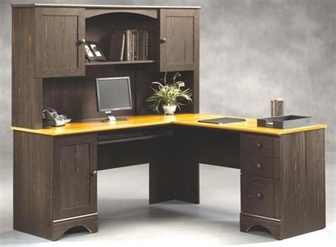 Sauder Corner Desk With Hutch Gaming Large Computer Desk For Monitors Atzine
