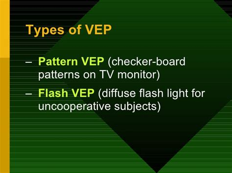 flash pattern vep electrodiagnostic tests in ophthalmology