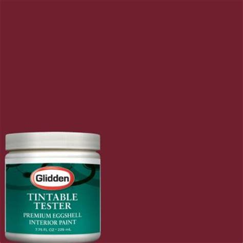 glidden premium 8 oz garnet interior paint tester glr29 d8 the home depot