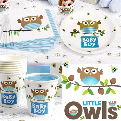Owl Paper Plates Baby Shower by Owl Partyware Baby Shower Christening Birthday Set