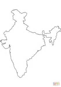 coloring pages of india map india blank outline map coloring page free printable