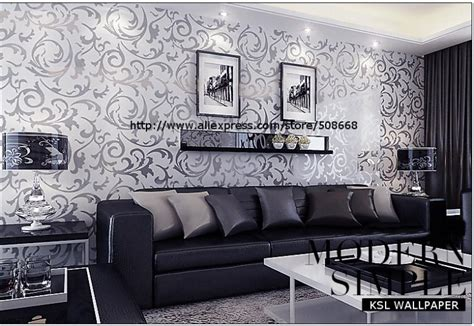 Silver Wallpaper For Living Room by Aliexpress Buy Genuine Glitter Wallpaper