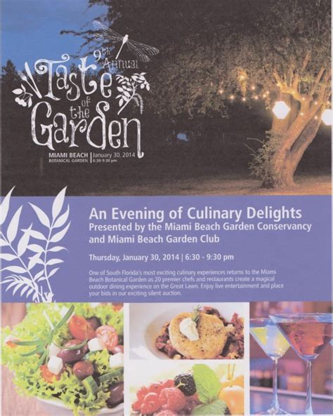 Garden Taste by Taste Of The Garden On Jan 30 Miamicurated