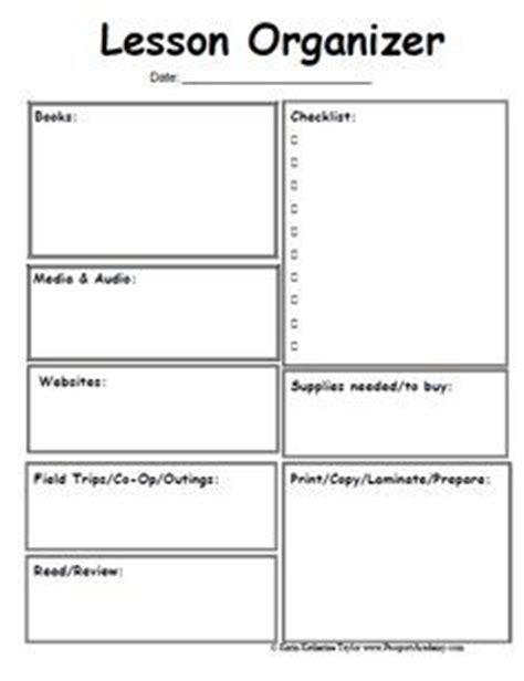 blank lesson plan template on pinterest creative