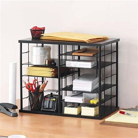 New Desk Organizer Office Holder Mesh Storage Folder Desk Shelf Organizer