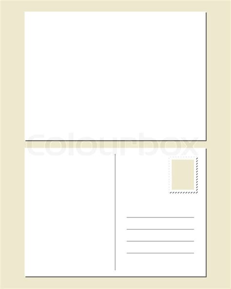 front and back postcard template blank postcard front and back stock vector colourbox