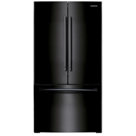 black samsung door refrigerator shop samsung 25 5 cu ft door refrigerator with